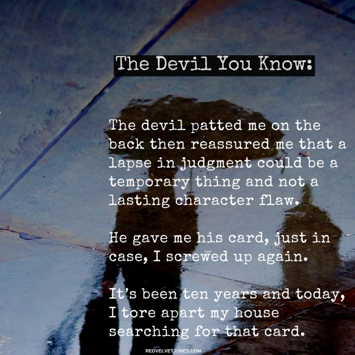 The devil YOU KNOW(2)